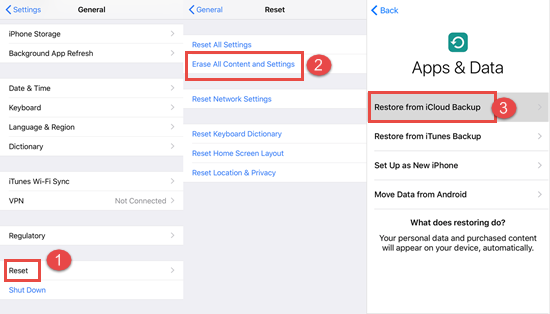 Restore Permanently Deleted Photos from iCloud Backup