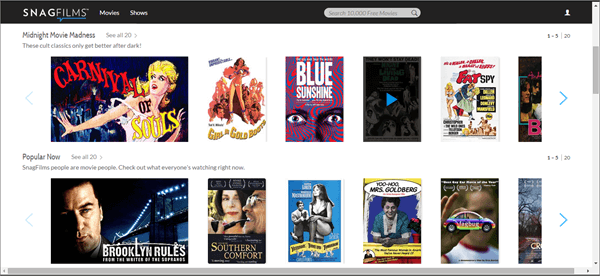 SnagFilms is one of the best Movie Sites for You to Download Free 4k Movies.
