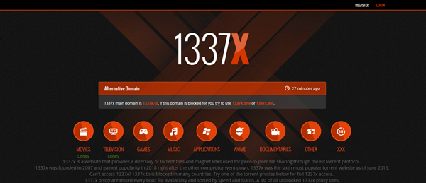 1337X is one of the top best alternatives to MusicPleer.