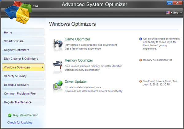 Advanced System Optimizer is one of the top best Game Optimizers and Boosters for PC.