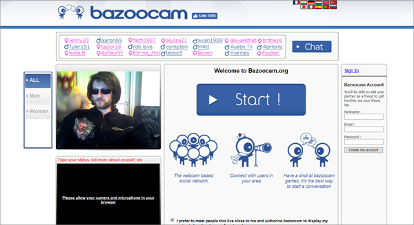 Bazoocam is one of the Top Best Websites Alternative to RouletteB.