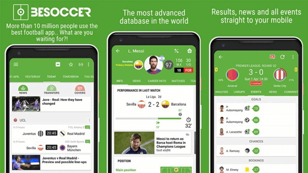 BeSoccer is one of the best Apps To Watch European Football.