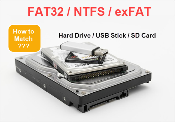What's the Difference between FAT32, NTFS and exFAT