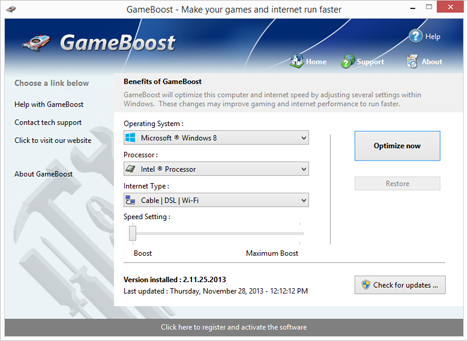 GameBoost is one of the top best Game Optimizers and Boosters for PC.
