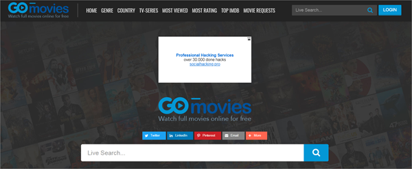 GOmovies is one of the top best Vidics Alternatives to Watch movies/TV serials.