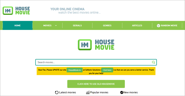 HouseMovie is one of the top best Vidics Alternatives to Watch movies/TV serials.