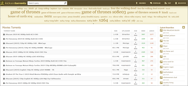 Kickass Torrents is one of the best game torrenting sites to download games.
