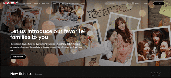 KOCOWA is one of the best sites like KissAsian to watch asian movies/drama.