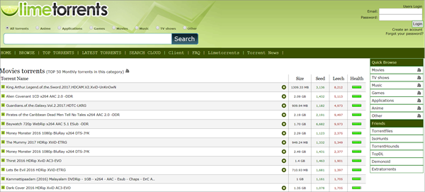 LimeTorrents is one of the best game torrenting sites to download games.