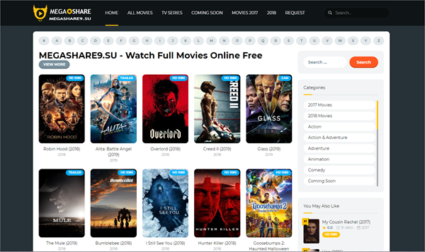 Megashare9 is one of the top best Vidics Alternatives to Watch movies/TV serials.