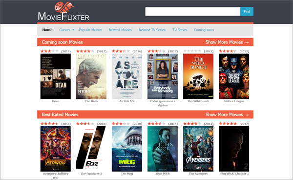 MovieFlixter is one of the top best Vidics Alternatives to Watch movies/TV serials.