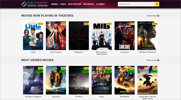 Moviewatcher is one of the top best Vidics Alternatives to Watch movies/TV serials.