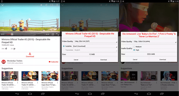OGYouTube is one of the best free YouTube video downloader Apps for Android.