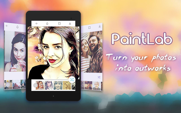 Using Photo Cartoon Camera - PaintLab to Turn Photos into Cartoons and Anime Drawings.