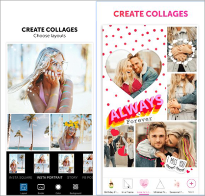 PicsArt - Collage Maker & Pic Editor (for both Android & iOS)