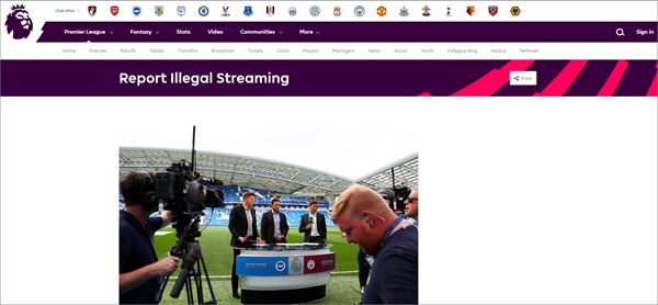 Using Premier League to Watch Live Football on Windows Computer/Mobile.