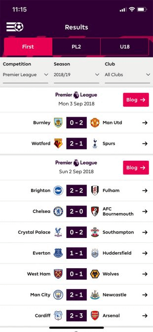 Premiere League Official Application is one of the best iPhone Apps for following Soccer Live TV.