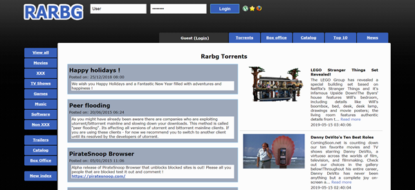 RARBG is one of the best game torrenting sites to download games.