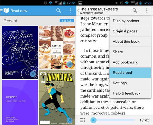 How To Use Text-To-Speech On Google Play Books.