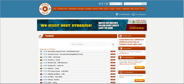 Real Stream United is Top Best Football Live Streaming Sites.
