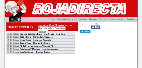 Using Rojadirecta to Watch Live Football on Windows Computer/Mobile.