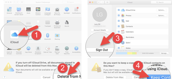 Sign out iCloud on Mac