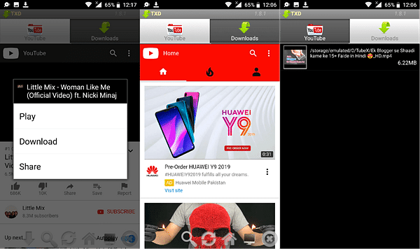 TubeX is one of the best free YouTube video downloader Apps for Android.