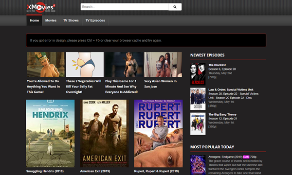 XMovies8 is one of the top best Vidics Alternatives to Watch movies/TV serials.
