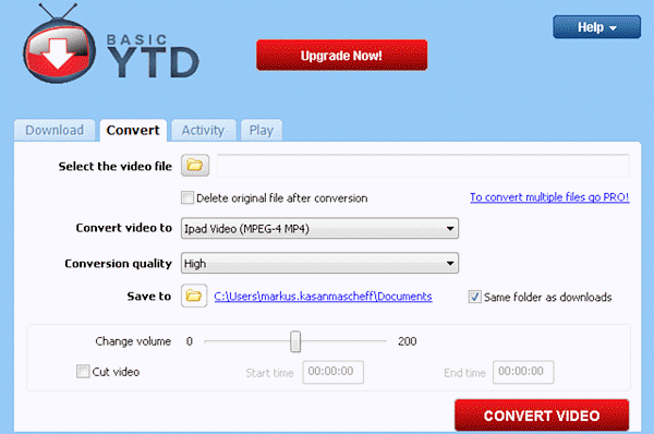 How to download YouTube videos via YTD Video Downloader