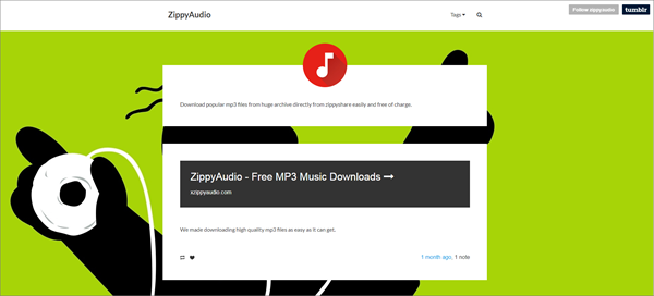 ZippyAudio is one of the top best alternatives to MusicPleer.