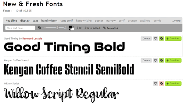 1001 Fonts is one of the best fonts free download sites for commercial use.