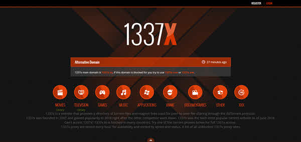 1337X is one of the best websites to download movies/TV series.