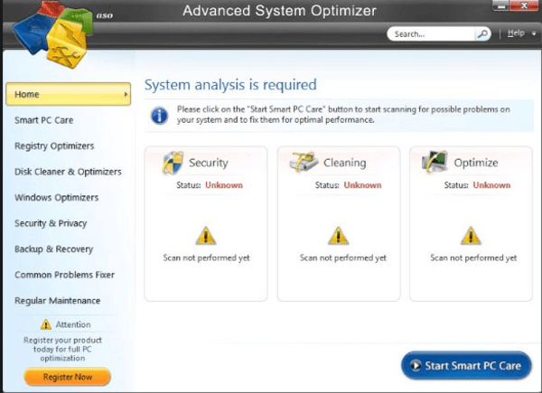 Advanced System Optimizer is one of the top best junk file cleaner software.