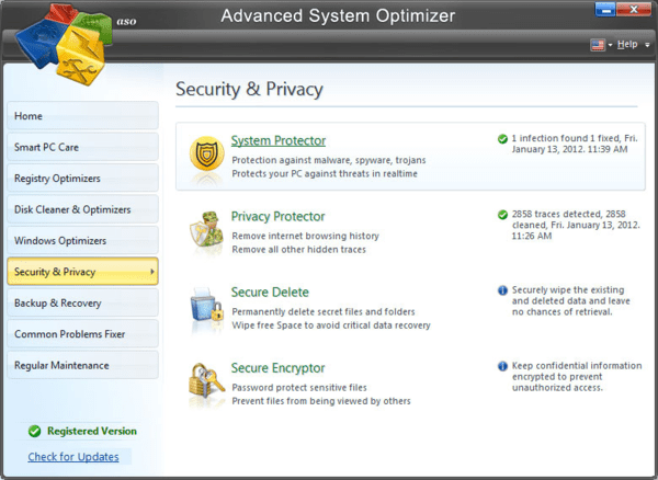 Advanced System Optimizer is one of the best PC cleaning software for Windows.