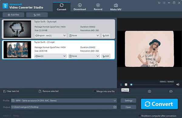 Apowersoft Video Converter Studio is one of the best free online YouTube to MP3 converters.
