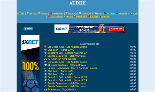 Atdhe is one of the best Sports Streaming Sites Like MyP2P.