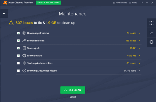 Avast Clean Up is one of the best PC cleaning software for Windows.