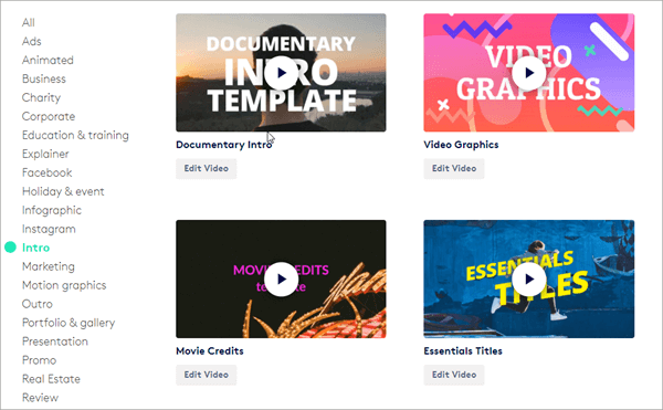 Biteable is one of the online YouTube Intro Makers with amazing templates.