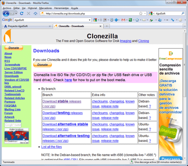 CloneZilla is one of the best disk cloning software for Windows.