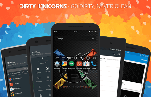 Dirty Unicorns is one of the best custom ROM for Android phones.