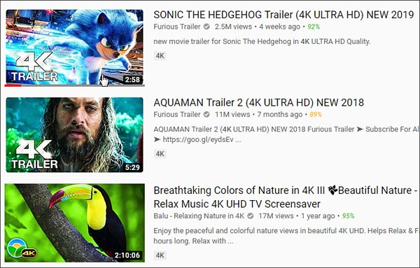 Download 4K UHD Videos from YouTube.