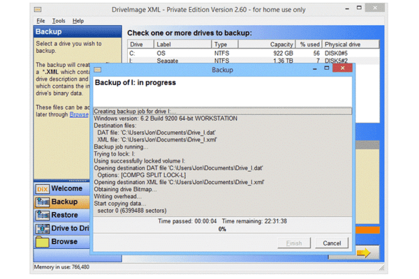 Drive Image XML is one of the best disk cloning software for Windows.