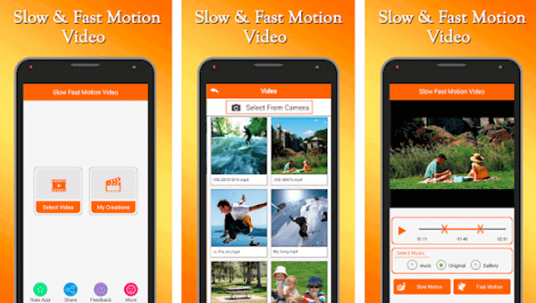Fast and Slow Motion Video Tool is one of the top slow motion video and camera Apps for Android.