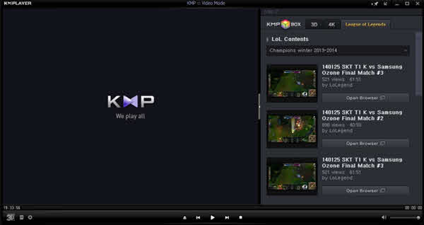 KMPlayer is one of the top best free media players for Windows.