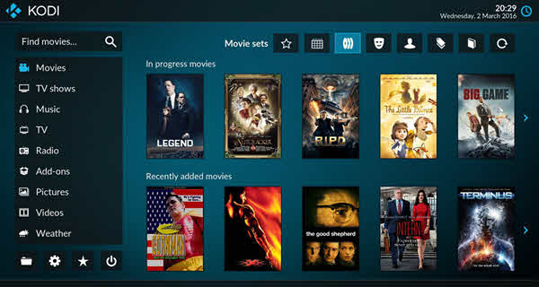 Kodi is one of the top best free media players for Windows.