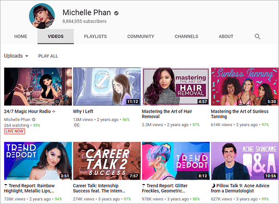 Michelle Phan is one of the top best beauty gurus and makeup artists on YouTube.