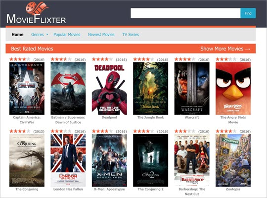 MovieFlixter is one of the top best similar sites like Tinklepad.