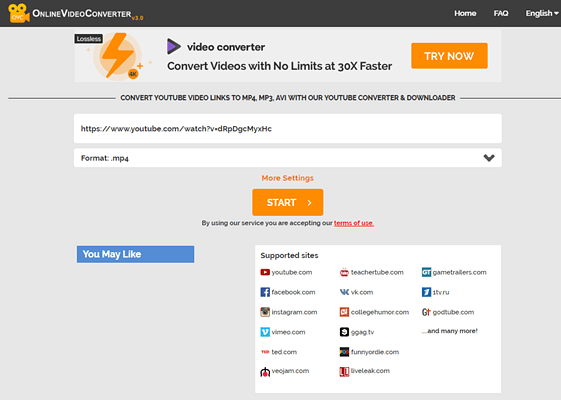 Online Video Converter is one of the top free online YouTube downloaders.