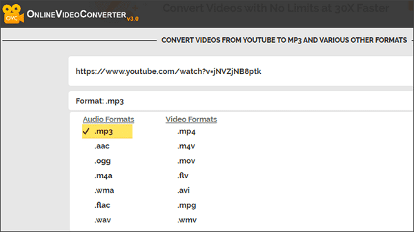 Online Video Converter is one of the best free online YouTube to MP3 converters.