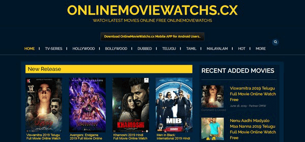 OnlineMovieWatch is one of the best alternative sites similar to FilmLinks4U.